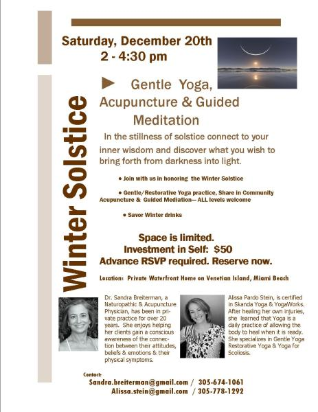 Gentle Yoga, Acupuncture, & Guided Mediation